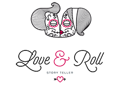 Logo love and roll