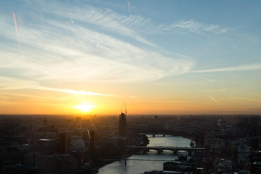 Puesta de sol en Londres