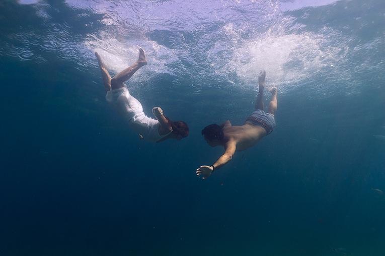 Pot boda bajo el agua