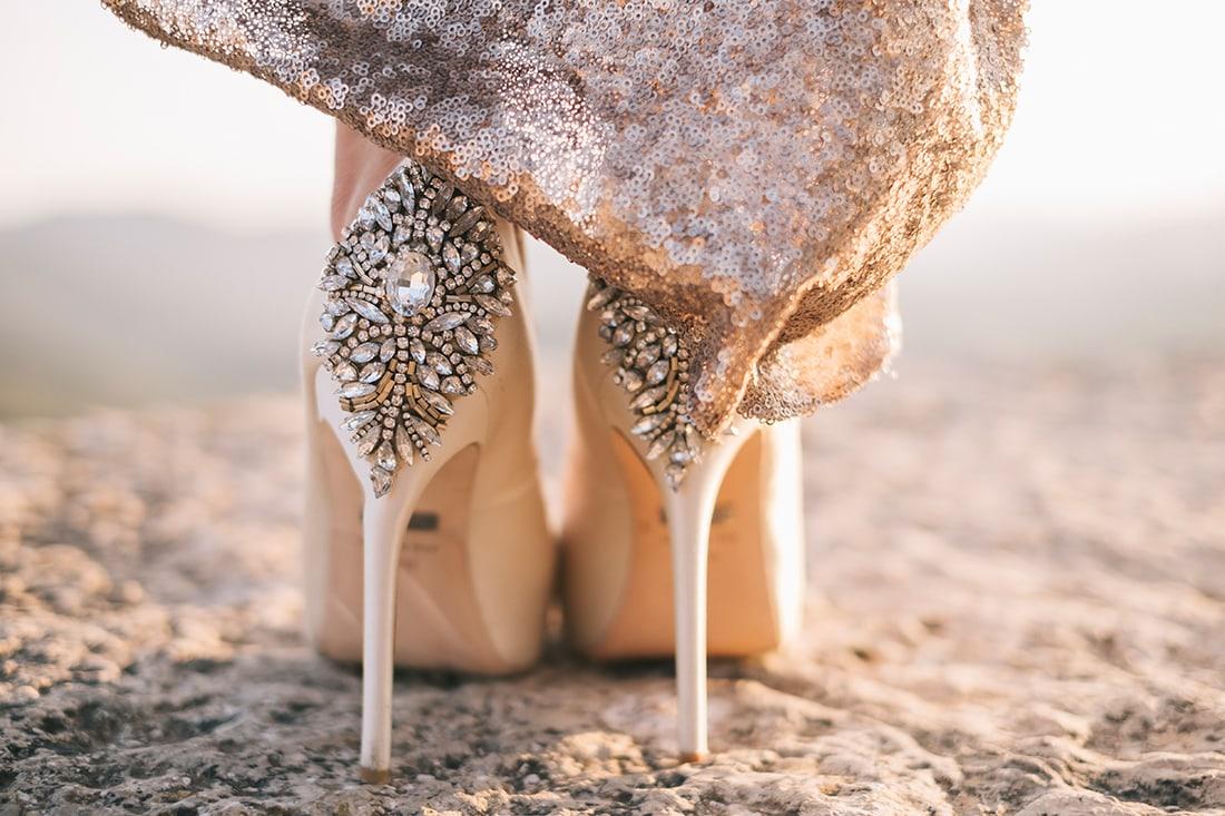 Zapatos de boda editorial de bodas